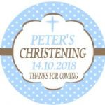 Personalised Boy Christening Sticker Design 4